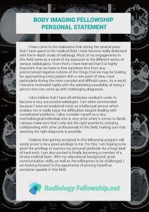 body imaging fellowship personal statement sample