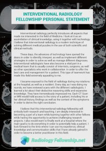 interventional radiology fellowship personal statement sample