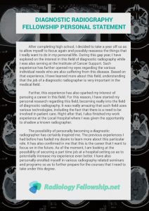 diagnostic radiography fellowship personal statement example